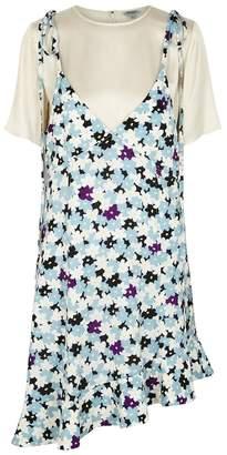 Kenzo Floral-print Layered Mini Dress