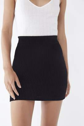 Urban Outfitters Jersey Corduroy Mini Skirt