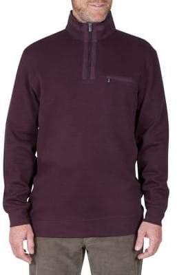 Haggar Regular-Fit Half-Zip Sweater