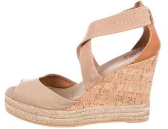 Tory Burch Crossover Wedge Espadrilles