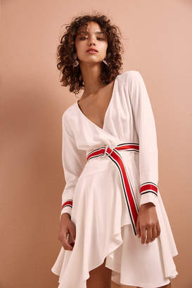 C/Meo COLLECTIVE BE MOVED LONG SLEEVE DRESS ivory