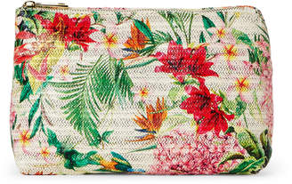 Imoshion Bird Raffia Floral Cosmetic Bag