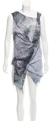 Kimberly Ovitz Printed Knee-Length Dress