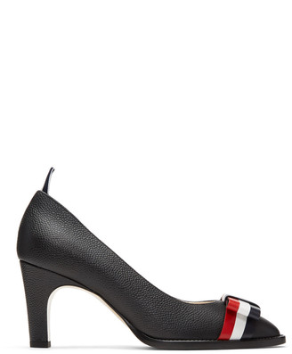 Thom Browne Black Bow Kitten Heels $990 thestylecure.com