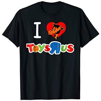 I Love Kissing Winky Face Giraffe Toy Store T-shirt