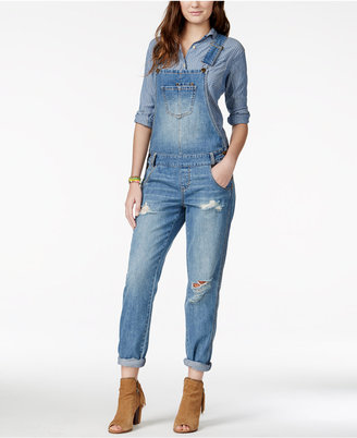 American Rag Ripped Denim Marlowe Wash Overalls, Only at Macy's $79.50 thestylecure.com