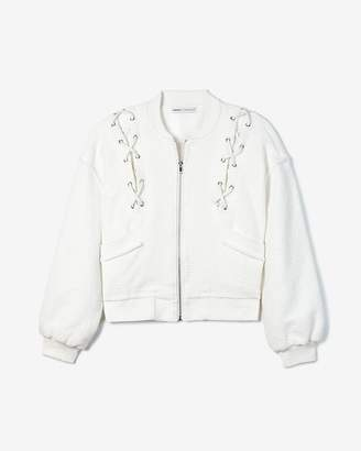 Express Olivia Culpo Lace-Up Jacket