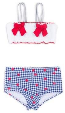 Betsey Johnson Girl's Two-Piece Printed Bikini Top and Bottom Set