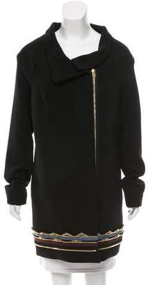 Roland Mouret Embellished Wool Coat