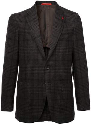 Isaia checked pattern blazer