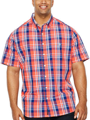 U.S. Polo Assn. USPA Mens Short Sleeve Button-Front Shirt Big and Tall