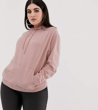 Asos DESIGN Curve ultimate hoodie in pink