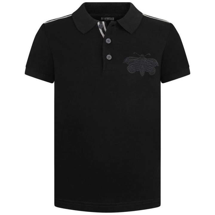 Antony MoratoBoys Black Polo Top