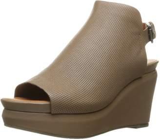 Gentle Souls Women's Jasper Peep-Toe Wedge Sandal
