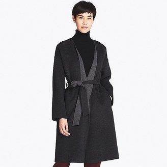 Uniqlo Women's Double Face Collarless Coat