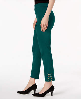 JM Collection Chain-Hem Ankle Pants, Created for Macy's