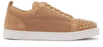 Christian Louboutin Louis Junior suede and mesh low-top trainers