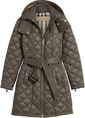 Burberry quilted showerproof parka