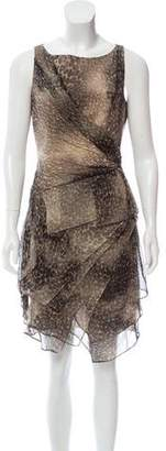 Cynthia Steffe Silk Animal Print Dress