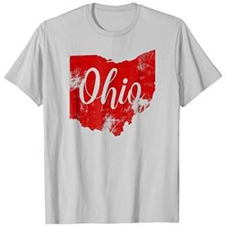 Ohio Vintage Retro Red Tee shirt