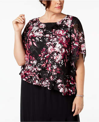 Alex Evenings Plus Size Tiered Top