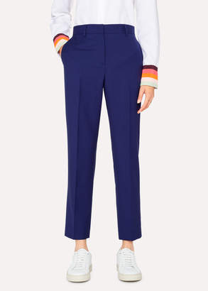 Paul Smith A Suit To Travel In - Women's Indigo Slim-Fit Wool Pants