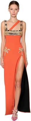 Fausto Puglisi EMBELLISHED CADY LONG DRESS
