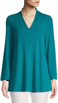 Eileen Fisher Bell-Sleeve V-Neck Top