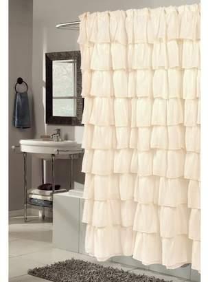Ophelia & Co. Atia Voile Ruffled Tier Shower Curtain