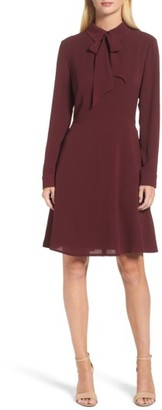 Women's Maggy London Crepe Bow Fit & Flare Dress $128 thestylecure.com