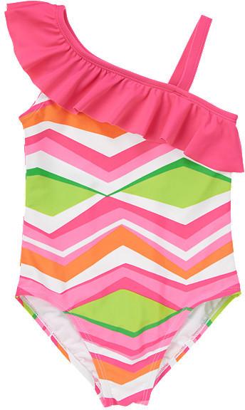 Gymboree Chevron Ruffle One-Piece Swimsuit