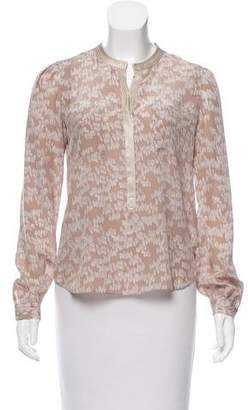 Rebecca Taylor Printed Silk Blouse