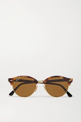 Ray-Ban - Clubround Acetate And Gold-tone Sunglasses - Tortoiseshell $173 thestylecure.com