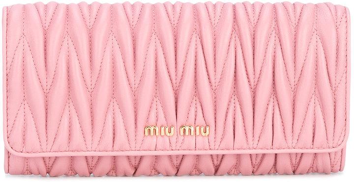 Miu MiuMiu Miu quilted wallet