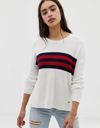 Hollister oversized sweater with stripe panel