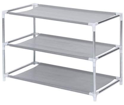 OUTAD Metal Shoes Rack 3/4/5/6/7/10 Layer Shoes Stand Removable Dust-Shelves Storage Organizer Fabric Shelf Holder Stackable Closet
