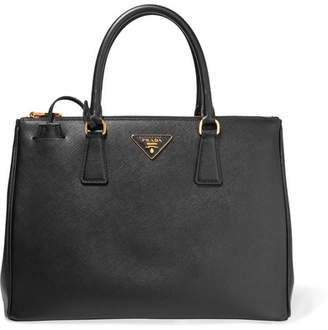 Prada Galleria Large Textured-leather Tote - Black