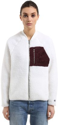Wood Wood Fleece Bomber Jacket $253 thestylecure.com