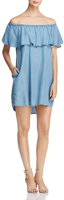 BeachLunchLounge Off-the-Shoulder Chambray Dress $78 thestylecure.com