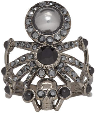 Alexander McQueen Black Spider Ring