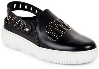 McQ Slingback Leather Platform Sneaker
