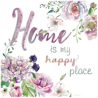 """New View Gifts """"Home is My Happy Place"""" Canvas Wall Art"""