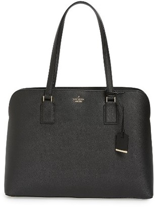 Kate Spade New York Cameron Street - Marybeth Leather Tote - Black $398 thestylecure.com