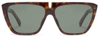 Givenchy Flat Top Acetate Sunglasses - Womens - Tortoiseshell