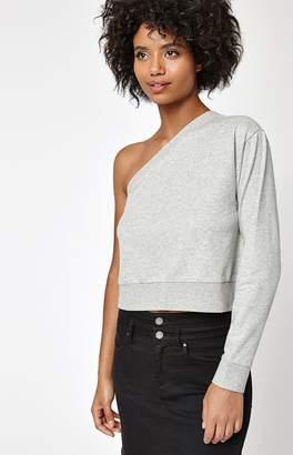 La Hearts Asymmetrical Fleece Sweatshirt