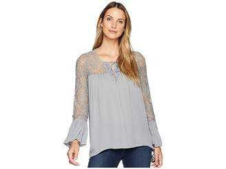 Wrangler Long Sleeve Peasant Shirt