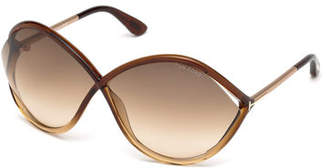 Tom Ford Liora Oversized Open-Inset Sunglasses