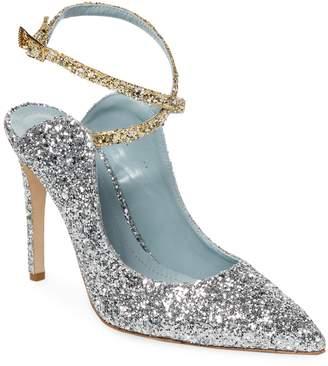 Chiara Ferragni Women's Glitter Point Toe Pump