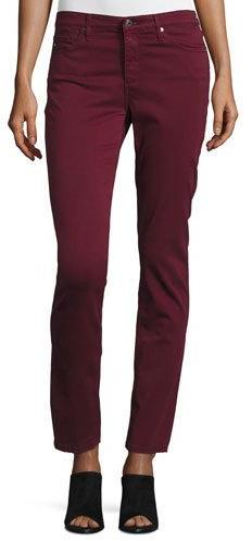 AG Jeans AG Prima Mid-Rise Cigarette Jeans, Wine