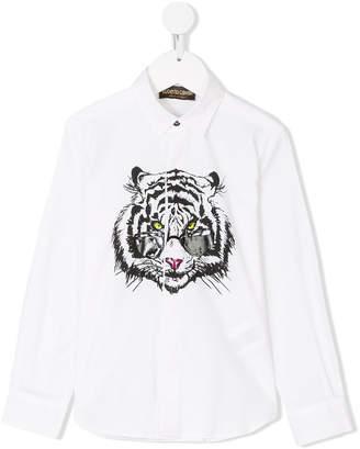 Roberto Cavalli Mister Tiger print shirt